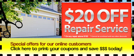 Garage repair discount coupons